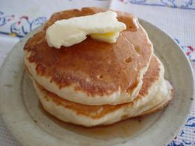 自家製酵母でふっくらパンケーキ