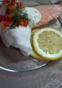 ♡鮭のムニエル メレンゲレモン添え♡