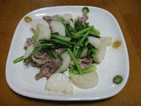 豚肉とかぶの塩炒め