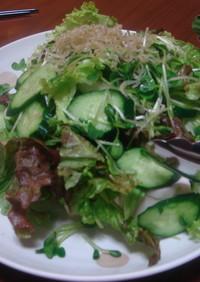 豆腐のかくれんぼサラダ