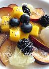フルーツサラダに♪バジルシードネックレス