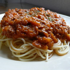 ケチャップでミートスパゲティ☆試してみて