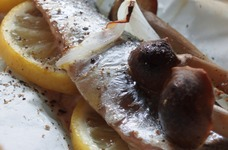 冷凍秋刀魚(さんま)のレモン焼き