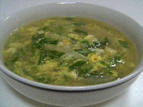 水菜の卵スープ