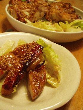 鶏の胡麻焼き