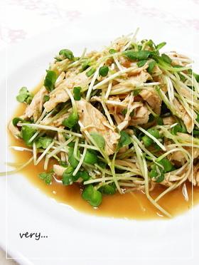 クック膳★ふっくらササミの簡単サラダ♡