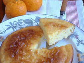 混ぜて焼くだけ♪ポン柑と蜂蜜のケーキ