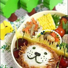 簡単なライオンさん弁当:キャラ弁