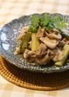 きゅうりのピクルスと豚肉で炒め物☆