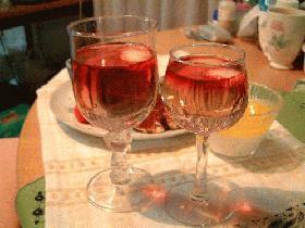 ピンクの食前酒