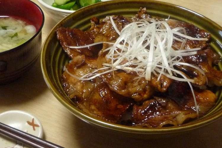 丼 レシピ 豚肉