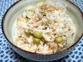 枝豆としらすのダイエットご飯☆