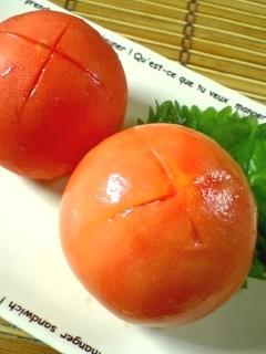 超簡単!トマトの湯むき