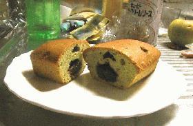 あんこを食べちゃった!抹茶のパウンドケーキ