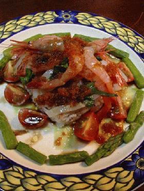 新鮮魚介のライスサラダ