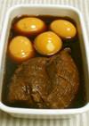 豚肉の紅茶煮☆漬け汁で味付け卵も♪