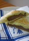 おうちでランチパック☆ハンバーグ&チーズ