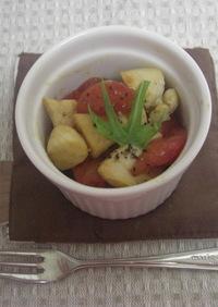 5分で簡単!ささみとトマトのポン酢炒め