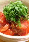 トマトの梅かつお和え