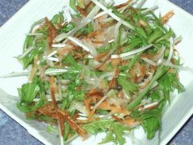 ハリハリ水菜とカリカリポテトのサラダ☆