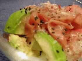 アボカドと梅ぼしのサラダ