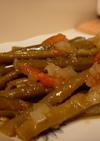 いんげんのオリーブオイル煮