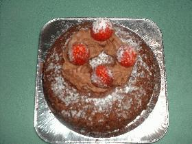 ドーム型ショコラケーキ♪