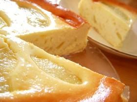とろける桃のチーズケーキ