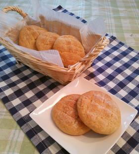 ホットケーキミックスで簡単メロンパン
