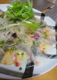 野菜たっぷり♪鯛のカルパッチョ