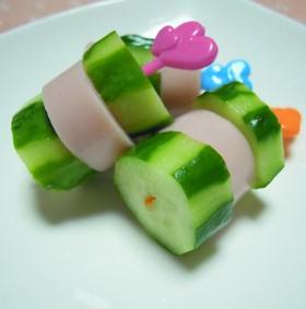 簡単♫お弁当✿魚肉ソーセージ&きゅうり