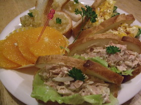 10分!フランスパンの3種類サンドイッチ