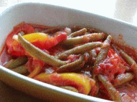 3色野菜のトマト煮込み