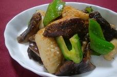 イカと椎茸のマヨしょう油炒め
