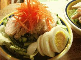 鶏々棒風@茹で鶏サラダ