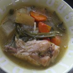 鶏手羽のスープ 風邪の時の定番メニュー