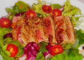 簡単!マグロのたたき風サラダ