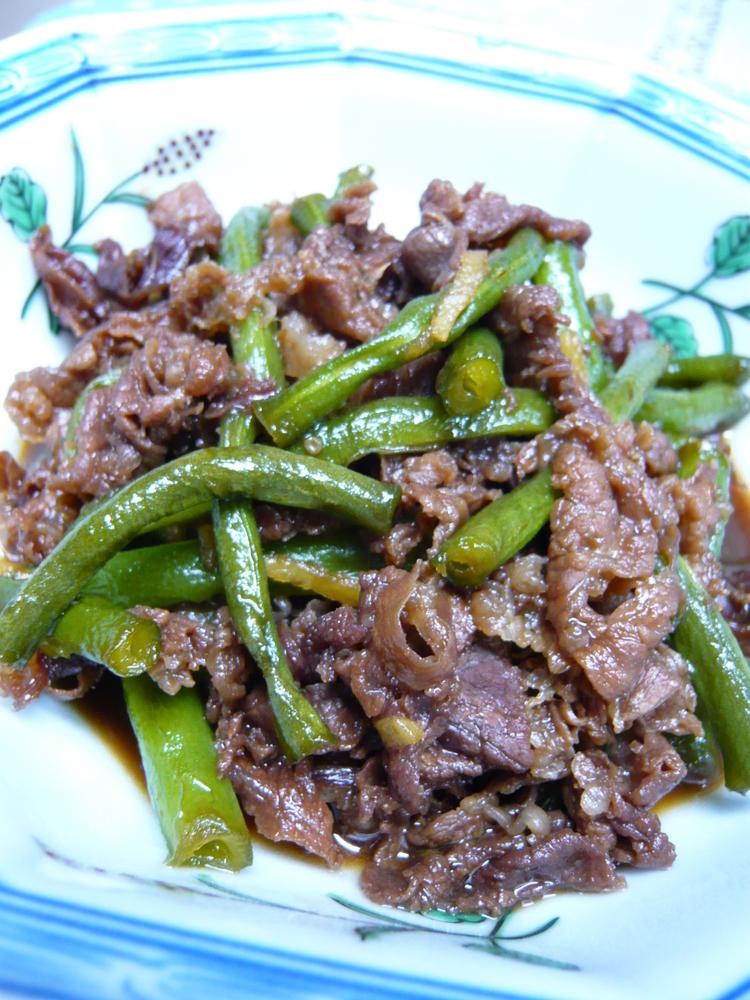 いんげんと牛肉の含め煮♡