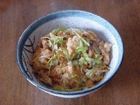 """ただ煮るだけ """"天ぷら丼""""でござーい。"""