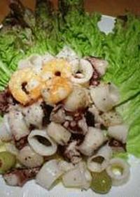 レストラン's レシピ1 海の幸のサラダ