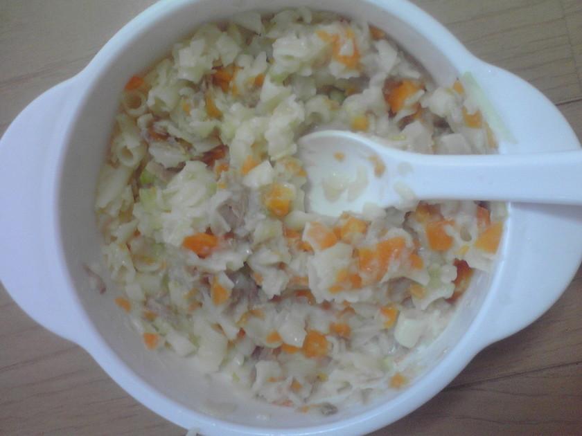 離乳食中期〜マカロニサラダ