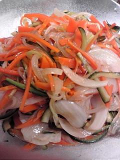 鶏のさっぱり煮の残り汁で、春雨サラダ♪
