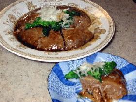 レンコンと挽肉の中華蒸し