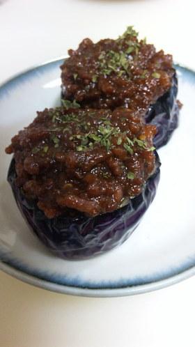 なすの上品な肉味噌田楽