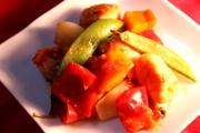 チキンとカラフル野菜ホットケチャップ炒めの写真