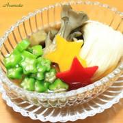 七夕★おくら&茄子の天の川そうめん★の写真