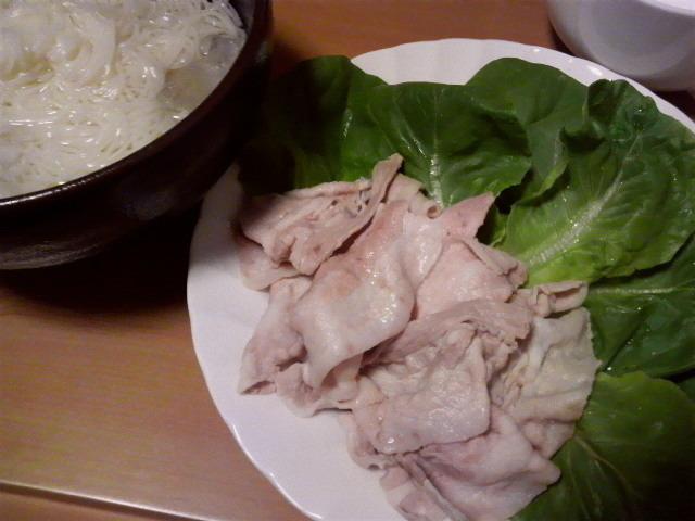 豚しゃぶ素麺