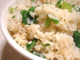 小松菜ご飯。