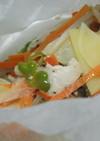 鶏ささ身とたっぷり野菜の包み蒸し