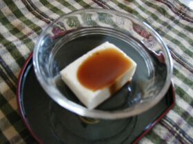まろやか手作り黒蜜 DE (^0^)豆腐くず餅